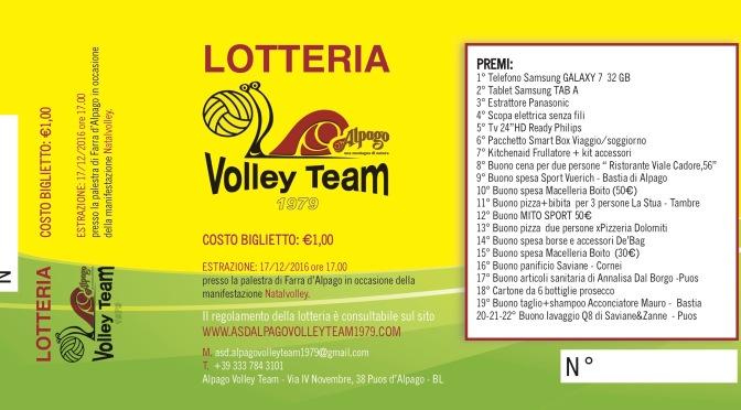NOVITÀ: Lotteria Natalvolley 2016