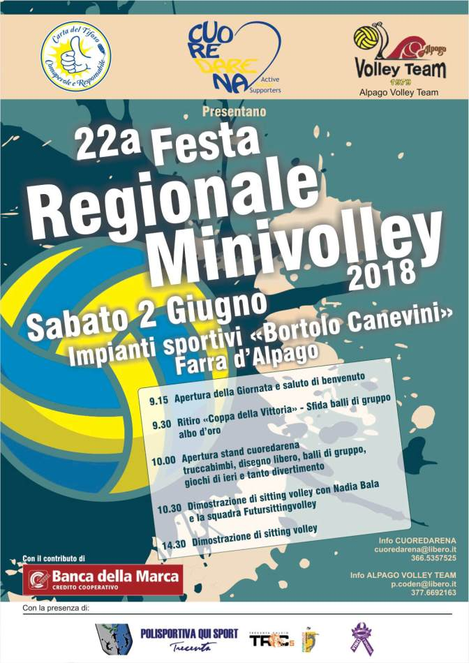 22° FESTA Regionale Minivolley 2018